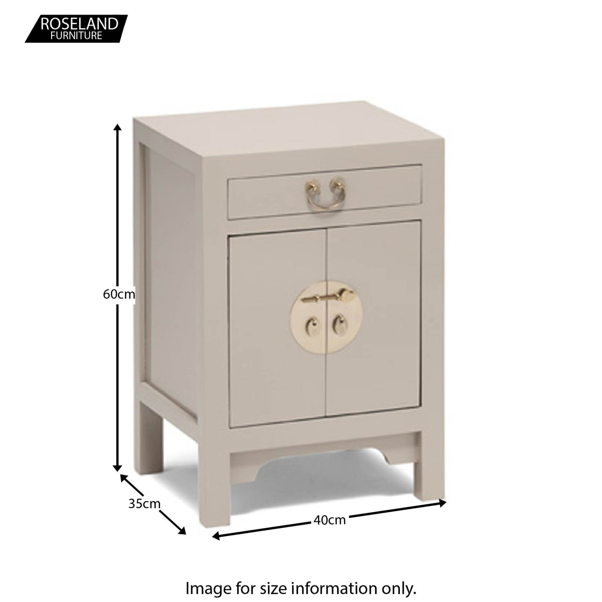 The Nine Schools Qing Oyster Grey Small Cabinet - Additional Size Guide