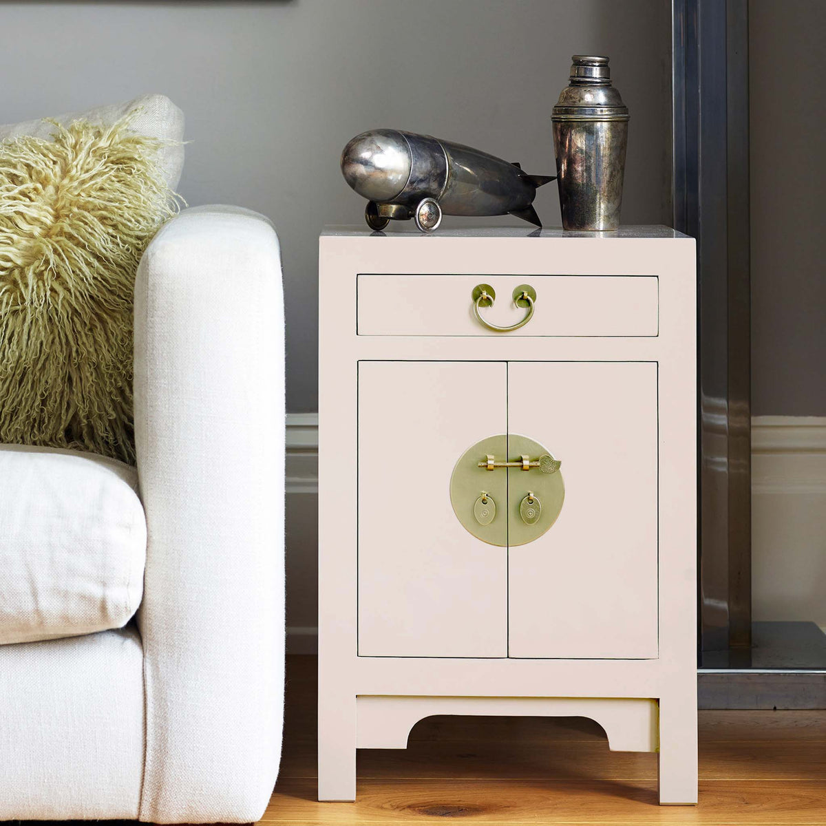 The Nine Schools Qing Oyster Grey Small Cabinet -  Lifestyle