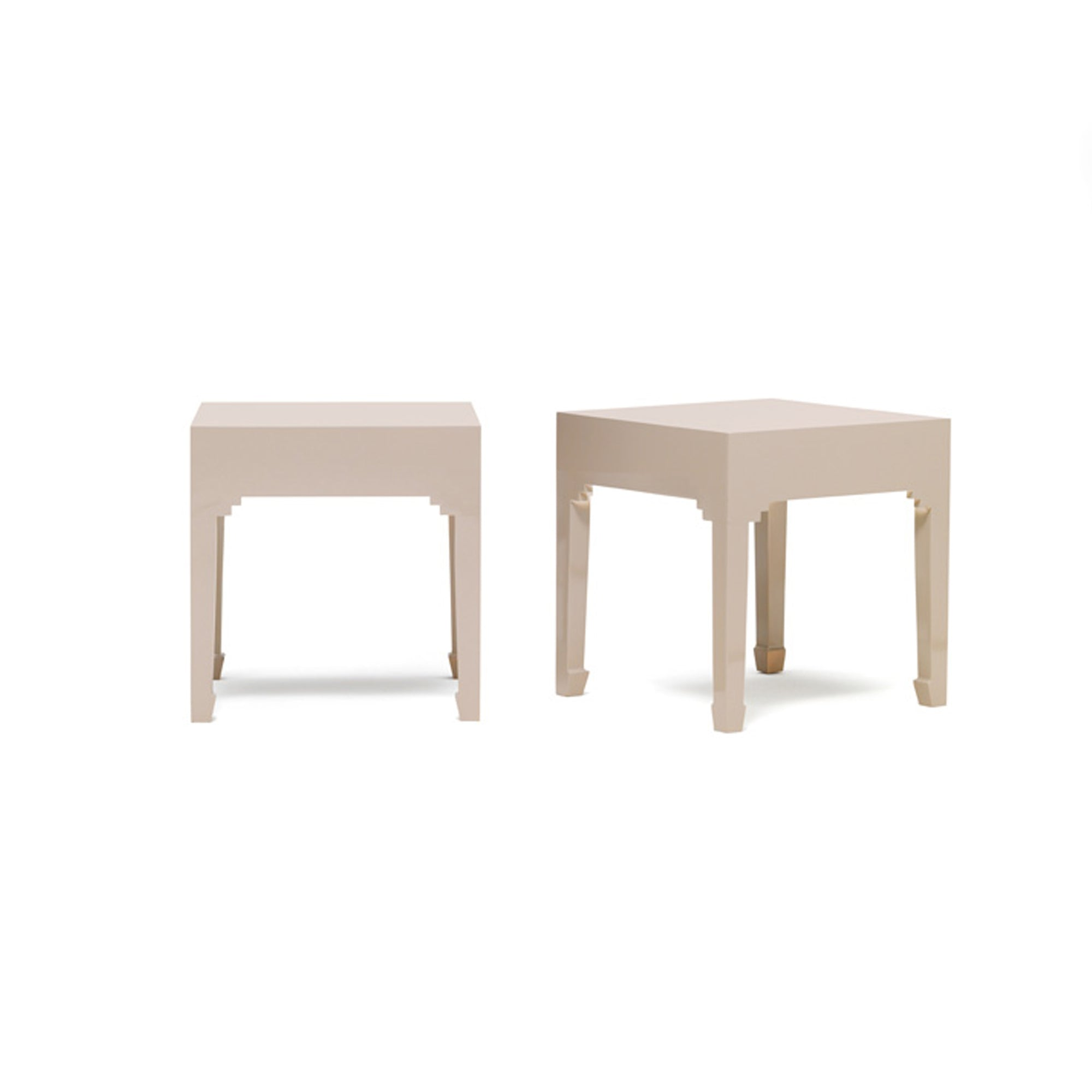 The Nine Schools Oyster Grey Pair of Lamp Tables by Roseland Furniture
