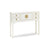 The Nine Schools White Small Console Table by Roseland Furniture