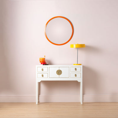 The Nine Schools Oriental White Small Console Table