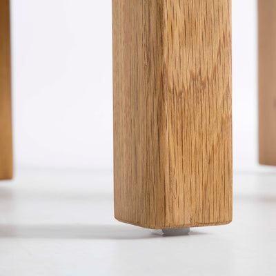 Roseland Oak Lamp Side Table - Close up of feet of table