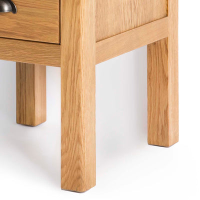Roseland Oak Lamp Side Table - Close up of legs of table