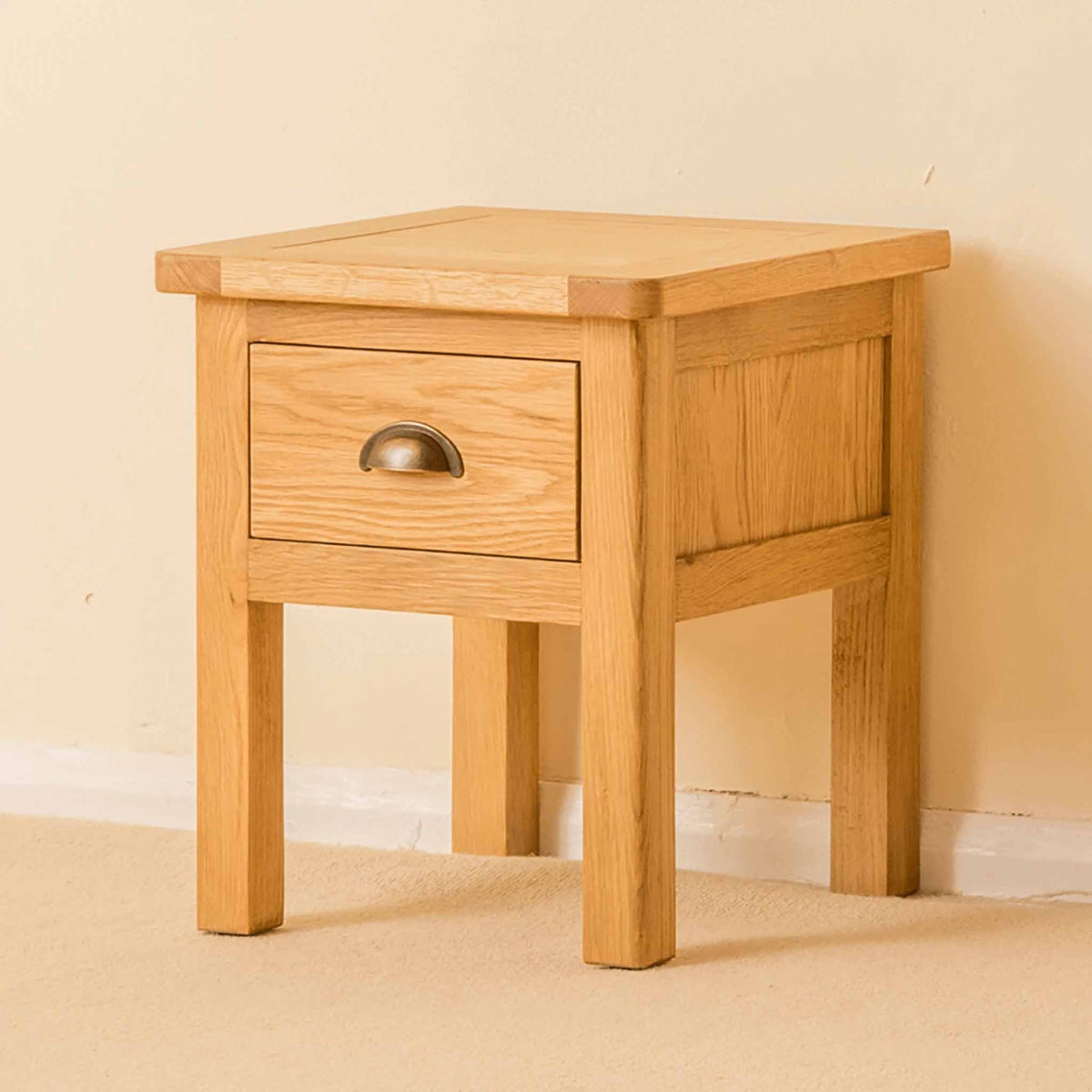 Roseland Oak Lamp Table - Lifestyle side view