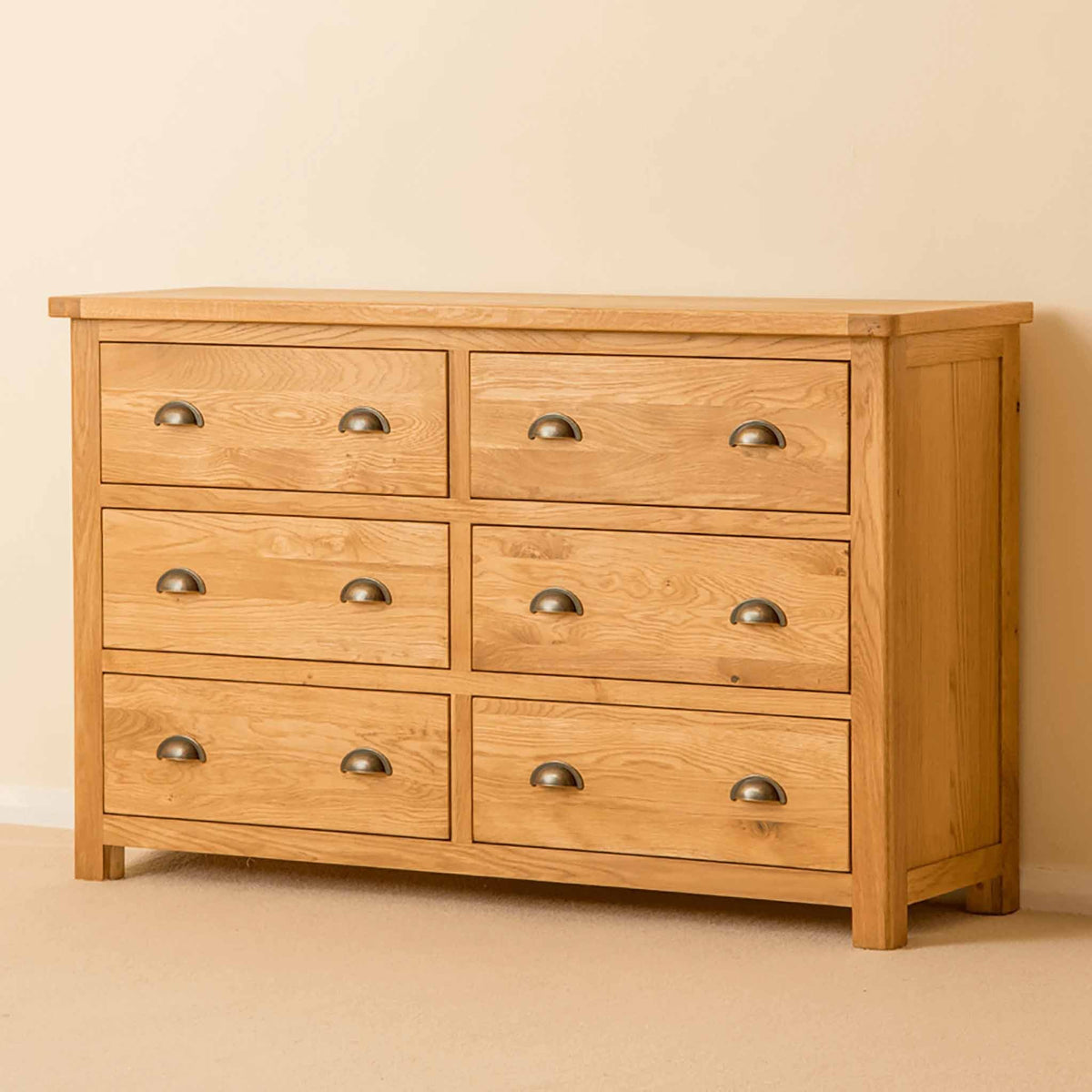 Roseland Oak 6 Drawer Chest by Roseland Furniture