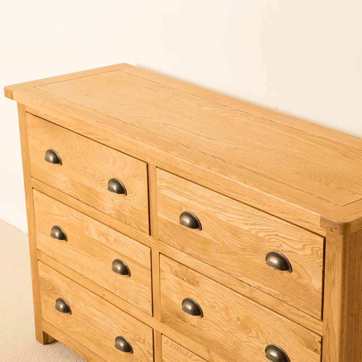 Top view of Roseland Oak 6 Drawer Chest