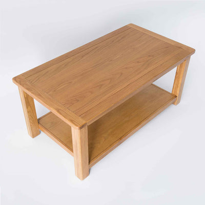 topside view of the Roseland Oak Coffee Table