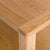 close up of rounded corners on the Roseland Oak Coffee Table