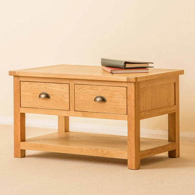 Roseland Oak 2 Drawer Coffee Table by Roseland Furniture