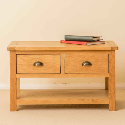 Roseland Oak 2 Drawer Coffee Table