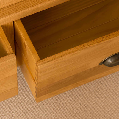 Open drawers - Roseland Oak Double Wardrobe & Drawers