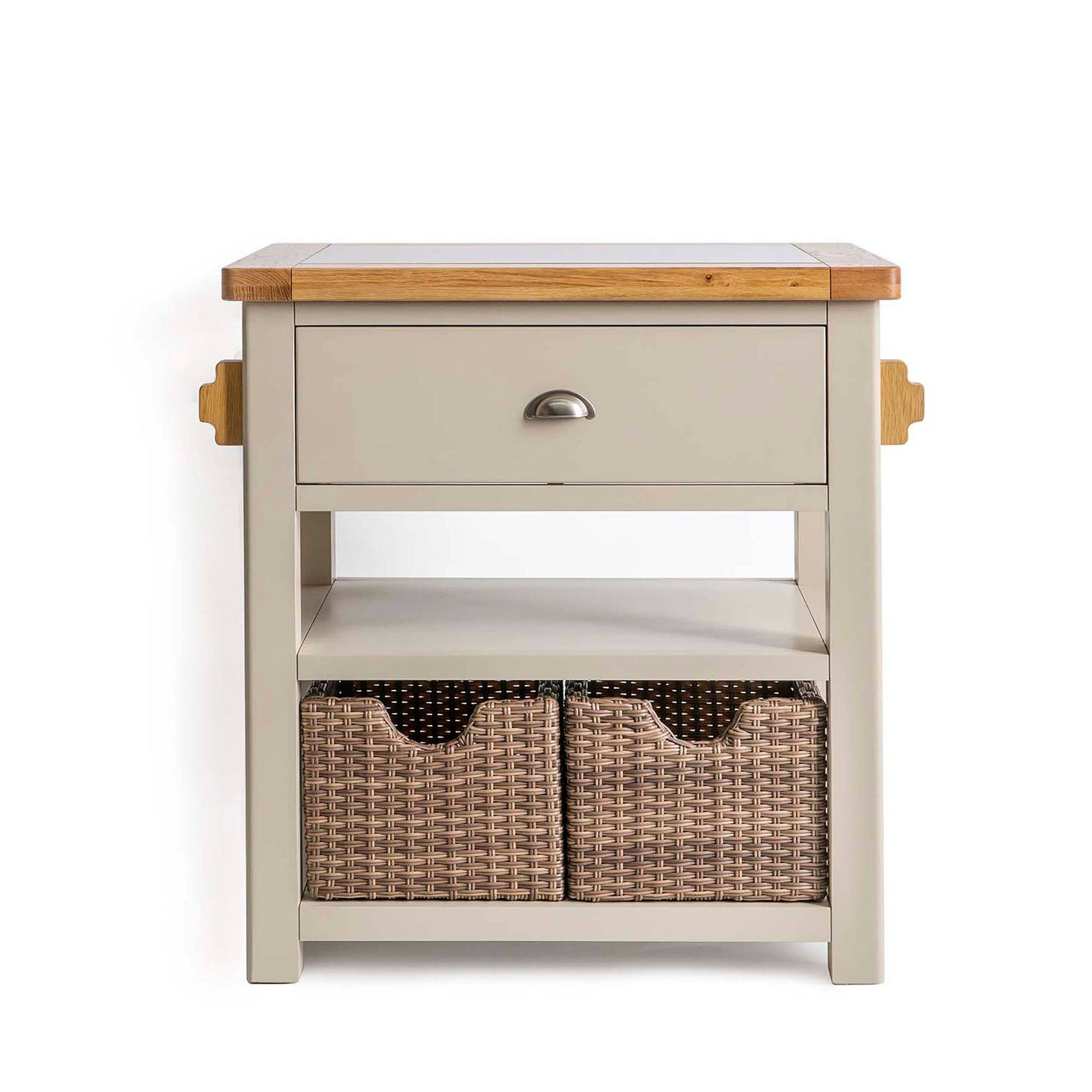 Padstow Stone Grey Small Kitchen Island by Roseland Furniture