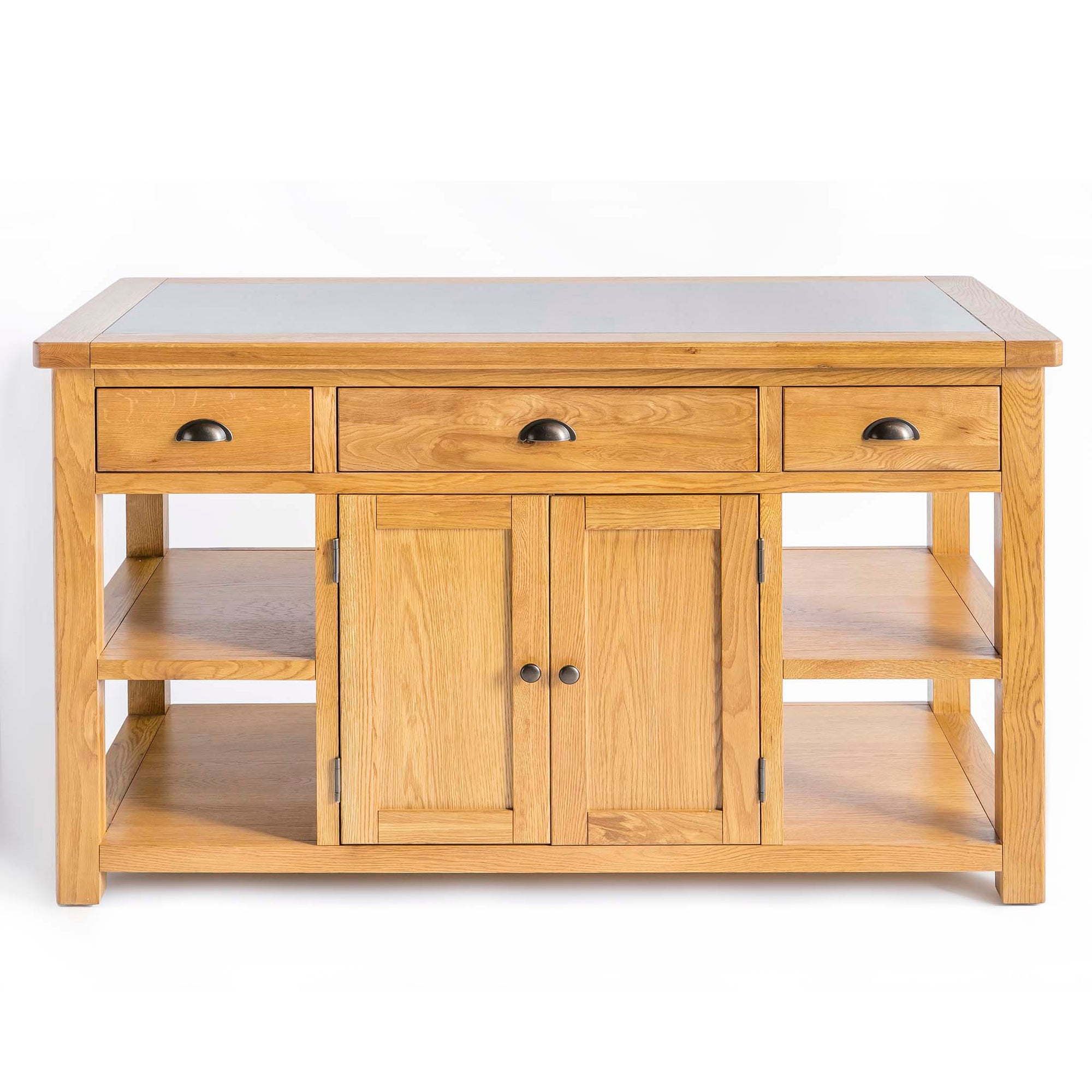 Roseland Oak Kitchen Island with Granite top by Roseland Furniture