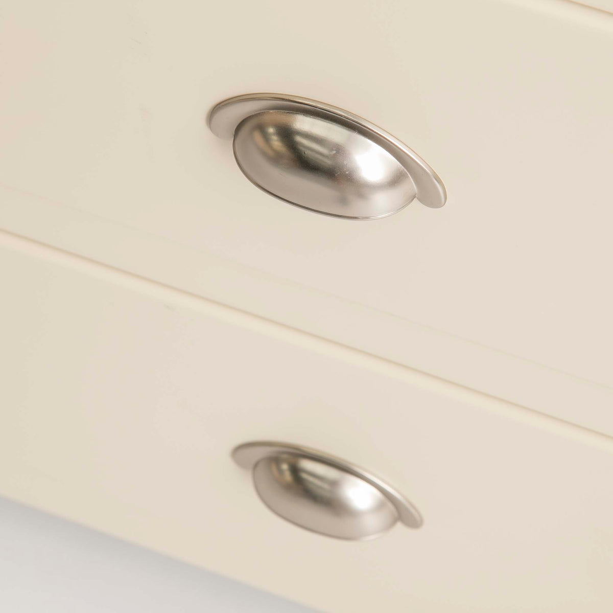 Padstow Cream Large Kitchen Larder Unit - Close up of drawer handles