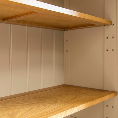 Padstow Cream Large Kitchen Larder Unit - View of  shelves inside larder cupboard