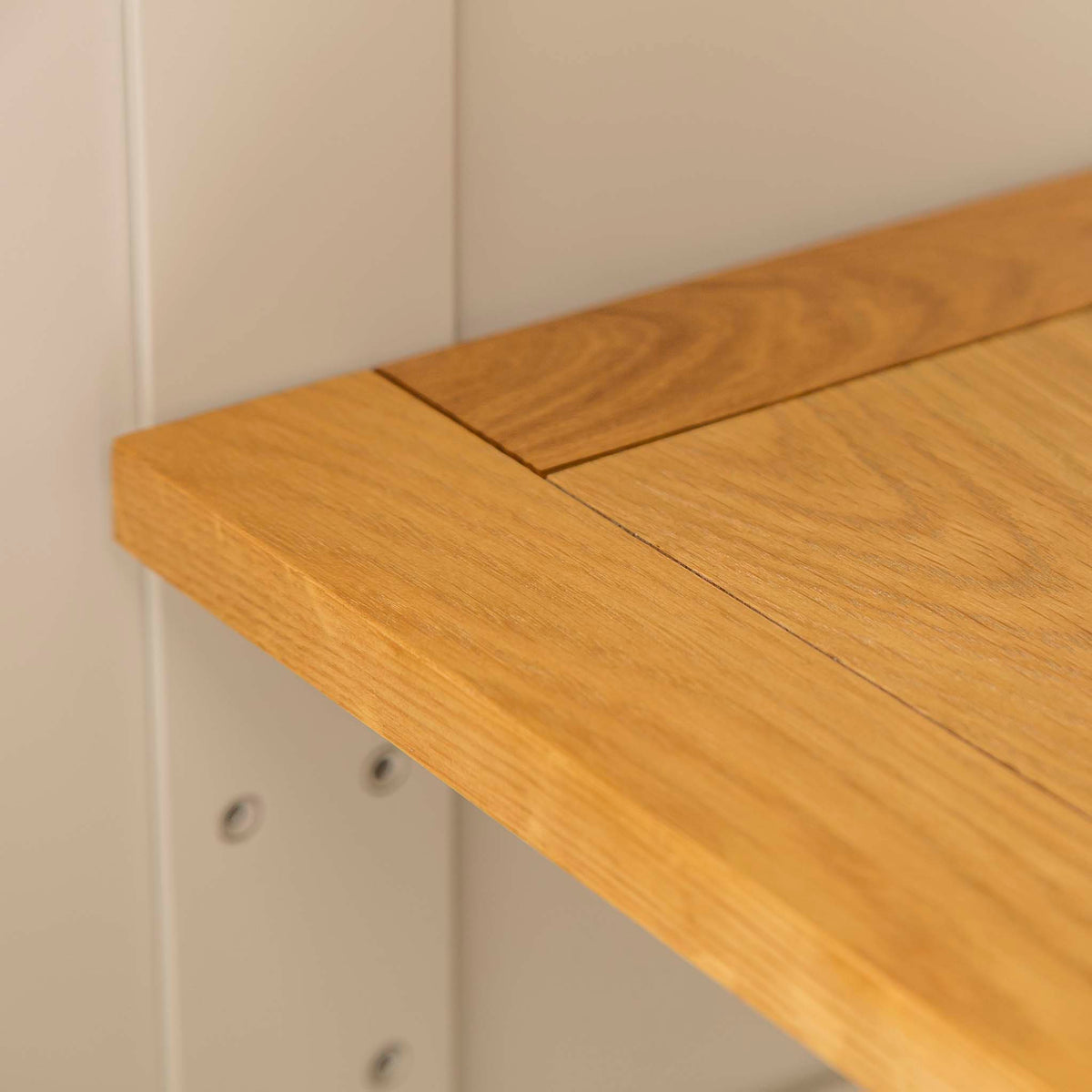 Padstow Cream Large Kitchen Larder Unit - Close up of shelf