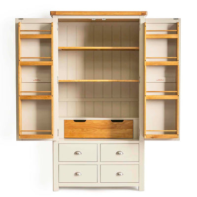 Padstow Cream Large Kitchen Larder Unit by Roseland Furniture