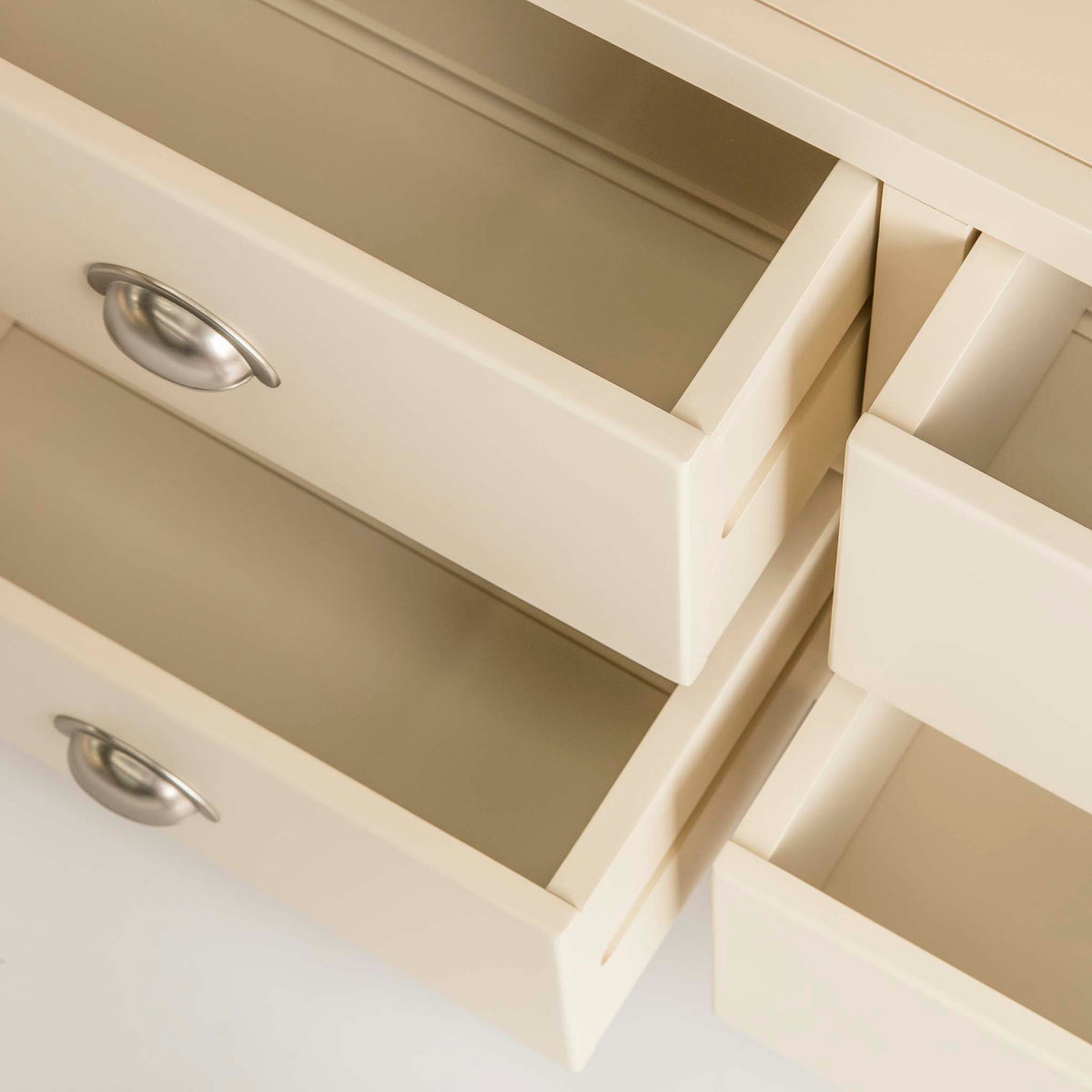 Padstow Cream Large Kitchen Larder Unit - Close up of  Drawers