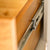Padstow Stone Grey Large Larder Unit - Close up of  Internal Larder Drawer Runner