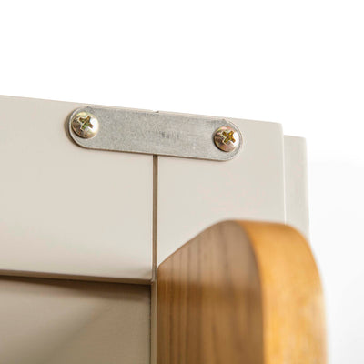 Padstow Stone Grey Large Larder Unit - Close up of  Cupboard Closing Plate