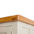 Padstow Stone Grey Large Larder Unit - Close up of Oak Top