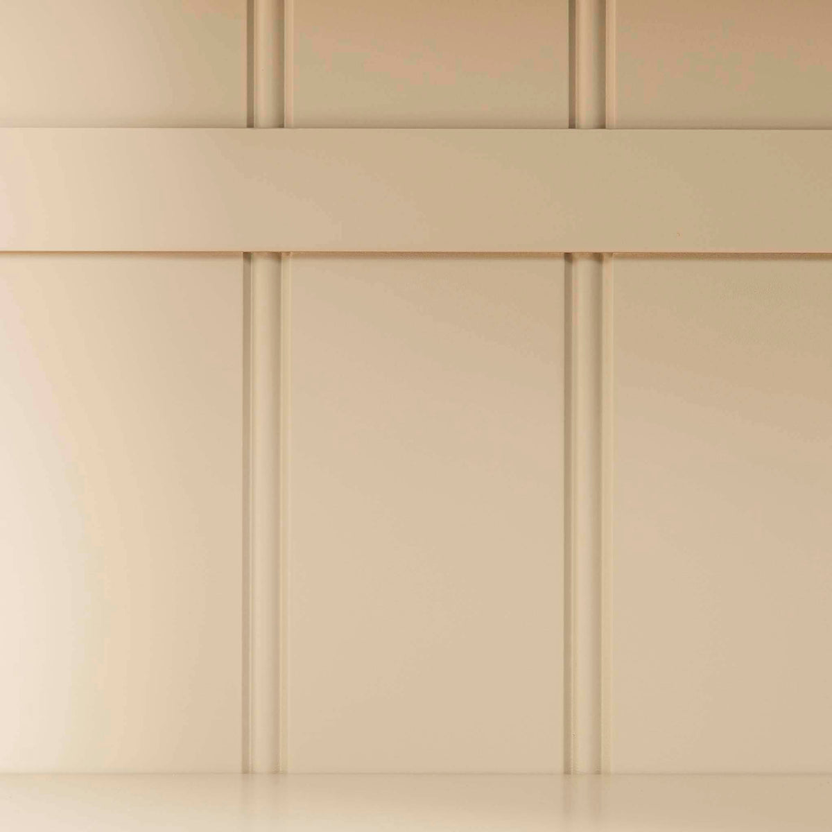 Padstow Cream Slim Larder - Close up of back panelling