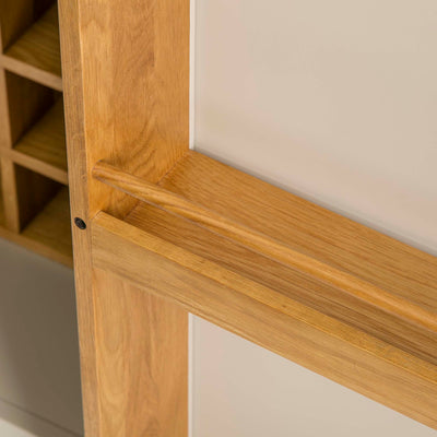Padstow Cream Slim Larder Unit - Close up of spice rack on inside door