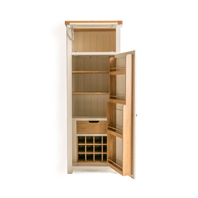 Padstow Cream Slim Larder Unit from Roseland Furniture