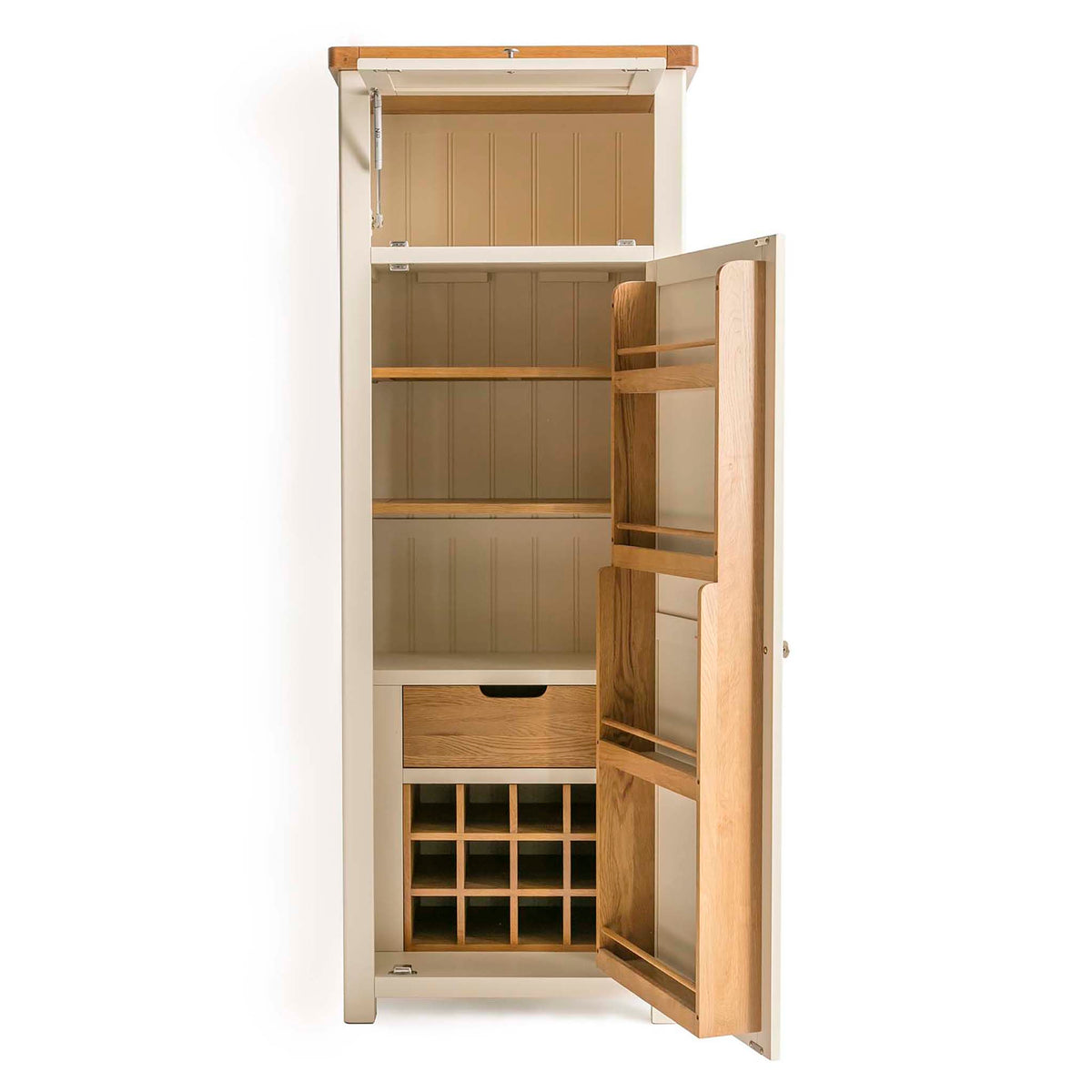 Padstow Cream Slim Larder Unit by Roseland Furniture