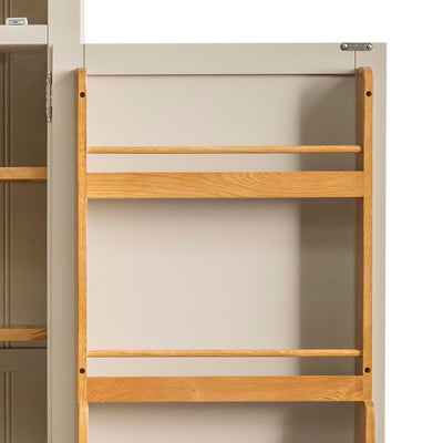 Padstow Stone Grey Small Larder Unit - Close up of inside door rack