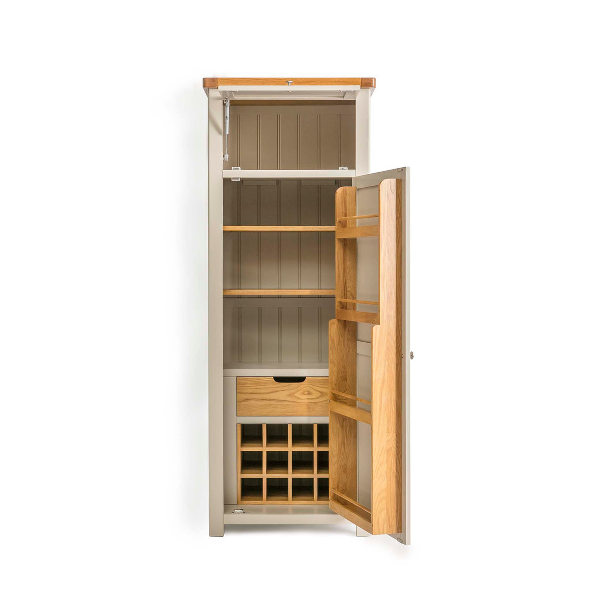 Padstow Stone Grey Small Larder Unit by Roseland Furniture