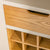 Padstow Stone Grey Small Larder Unit - Close up of  inner Wine Rack and drawer