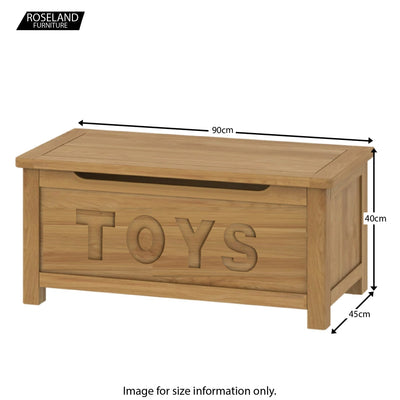 Roseland Oak Toy Box - Size Guide