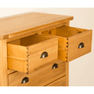Roseland Oak 2 Over 4 Drawer Chest