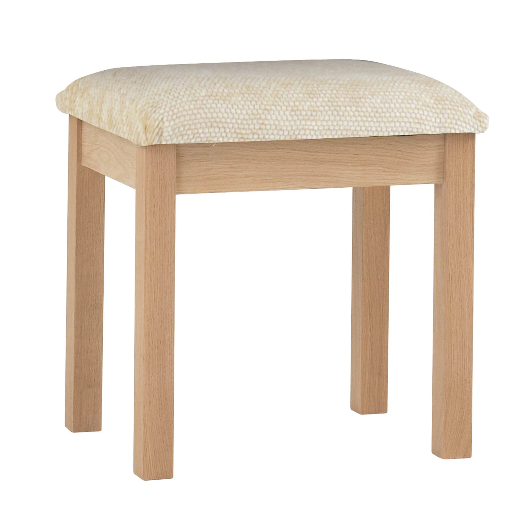 Falmouth Oak Dressing Table Stool by Roseland Furniture