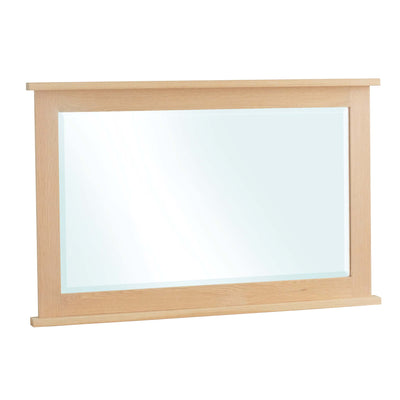 Falmouth Oak Rectangular Wall Mirror by Roseland Furniture