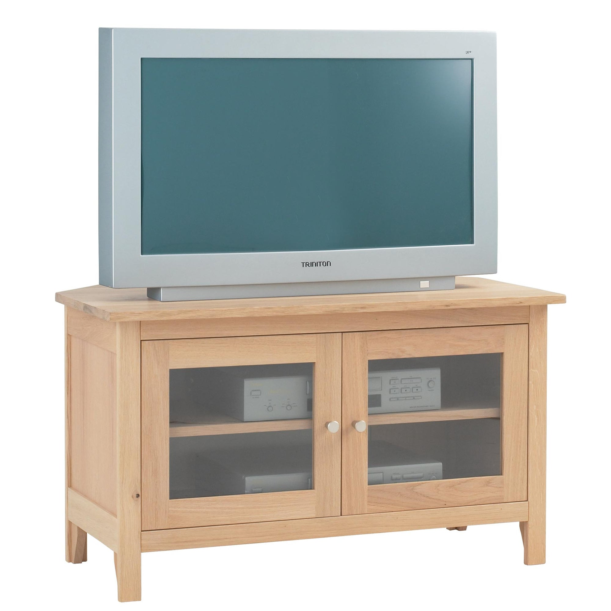 Falmouth Oak Corner TV Stand by Roseland Furniture