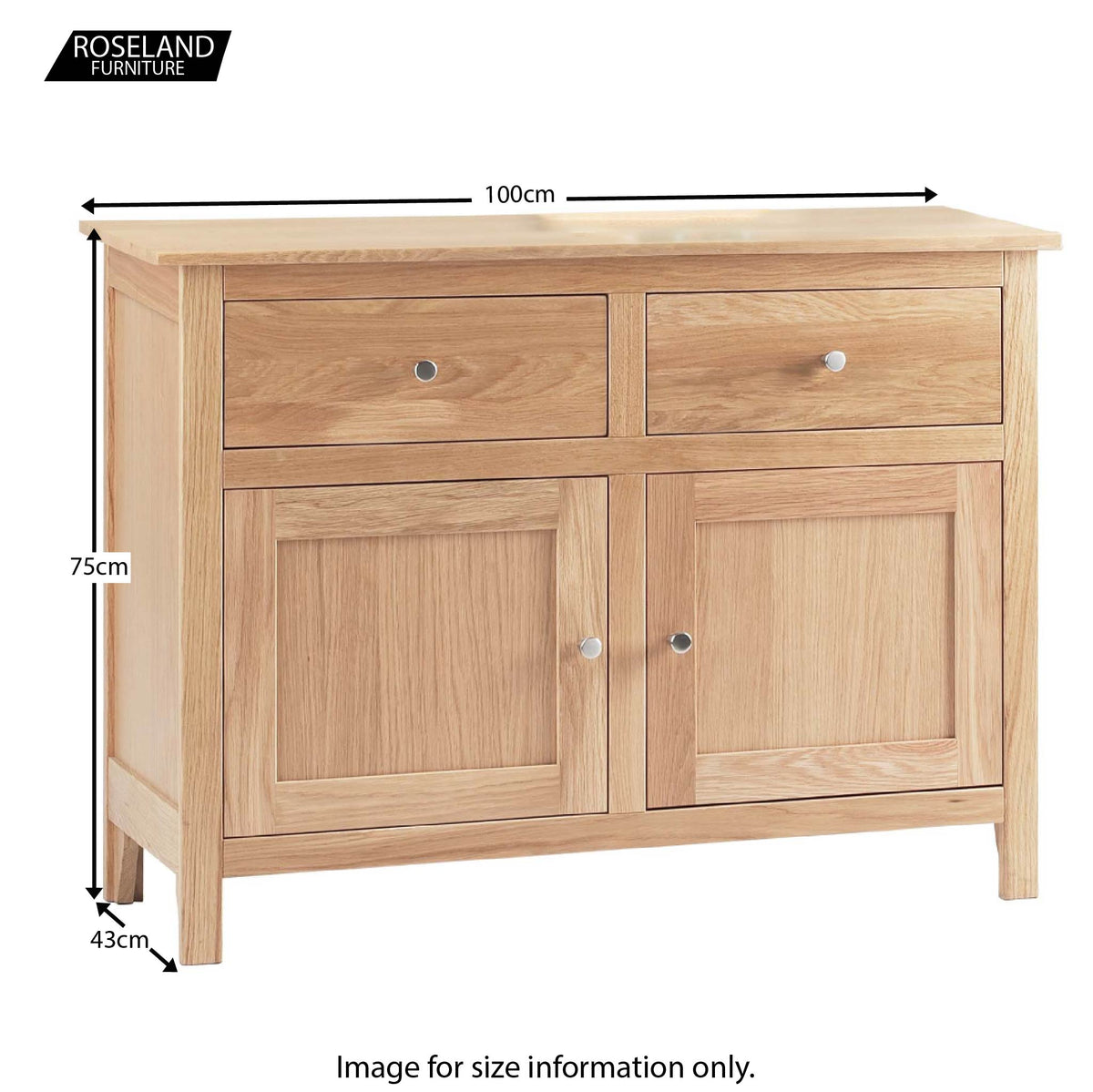 Dimensions - Falmouth Oak Small Sideboard