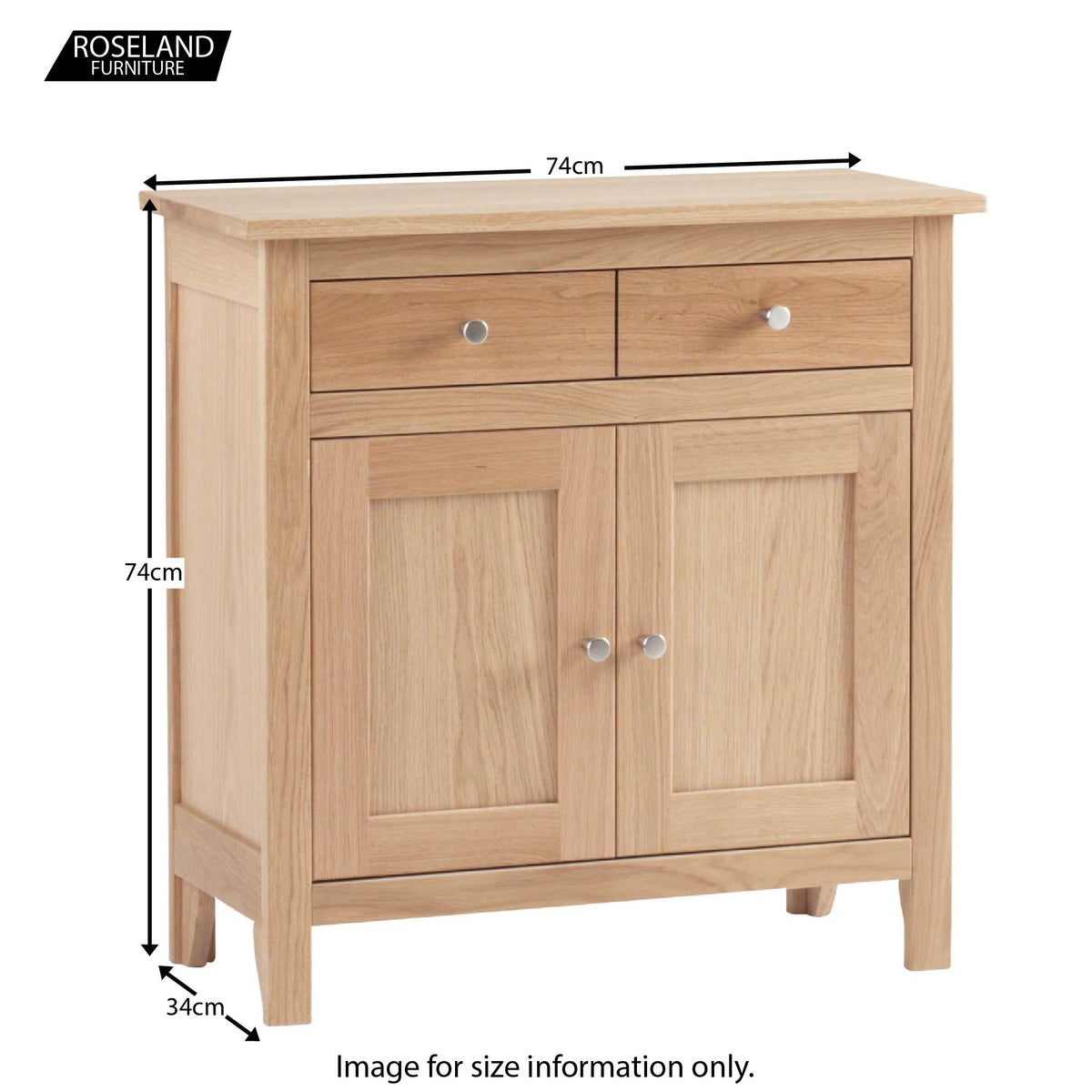 Dimensions - Falmouth Oak Mini Sideboard