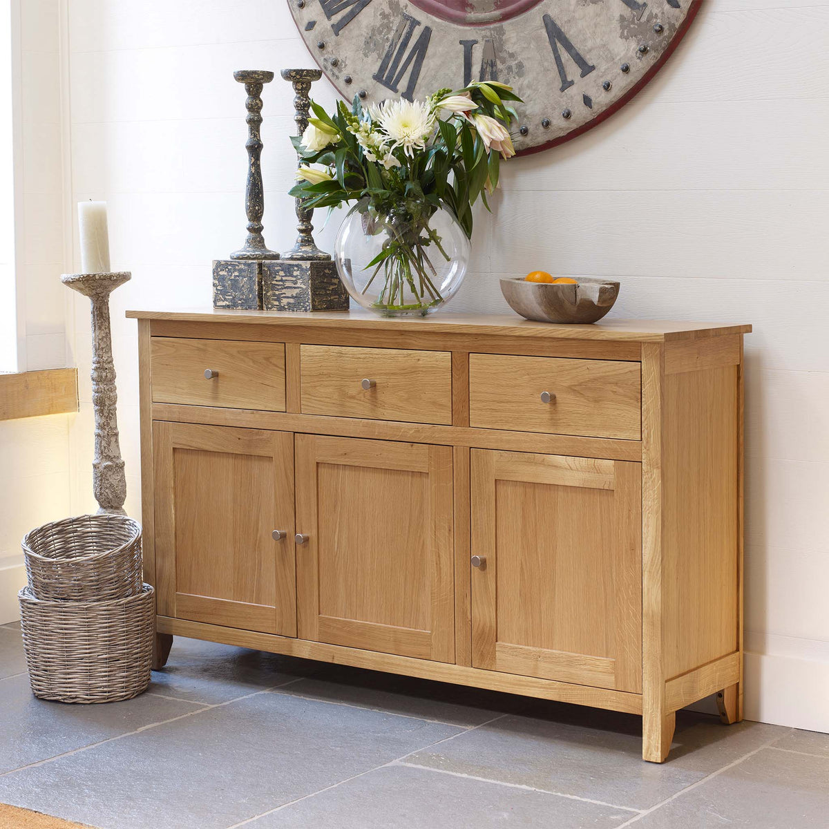 Falmouth Oak Large Sideboard