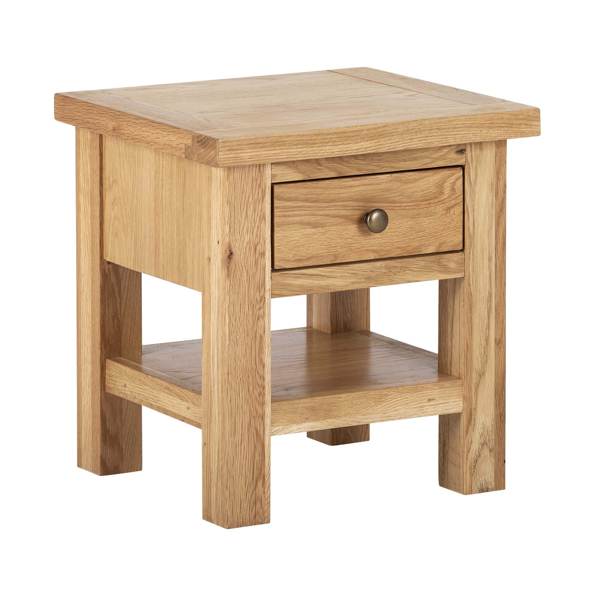 Charlestown Oak Side Table with Drawer by Roseland Furniture