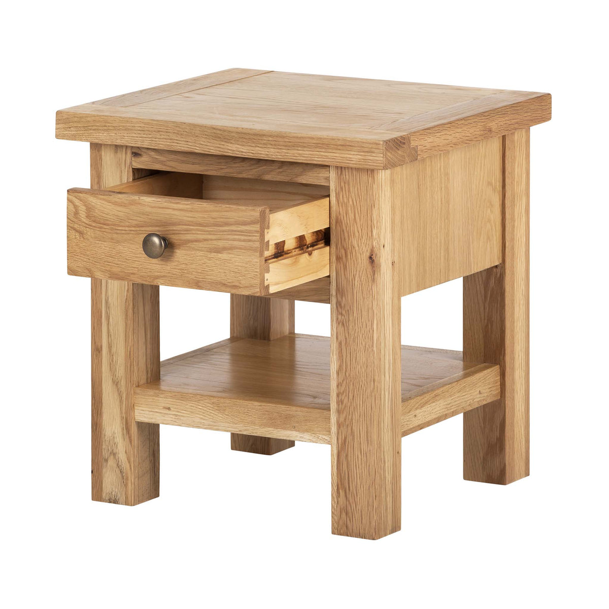 Charlestown Oak Side Table with Drawer