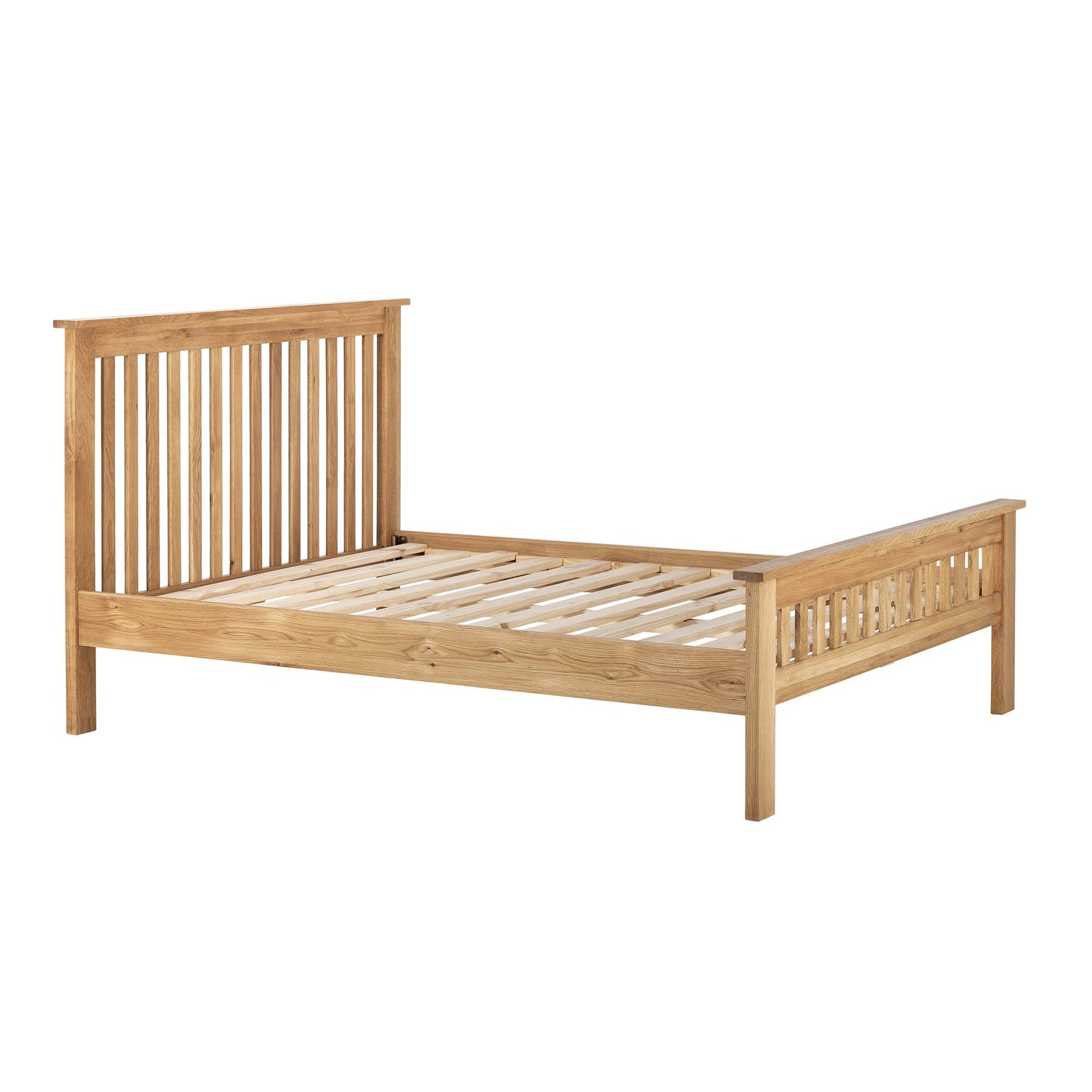 "Charlestown Oak 4ft 6"" Double Bed Frame by Roseland Furniture"