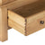 Closeup of drawer joint - Charlestown Oak Double Wardrobe