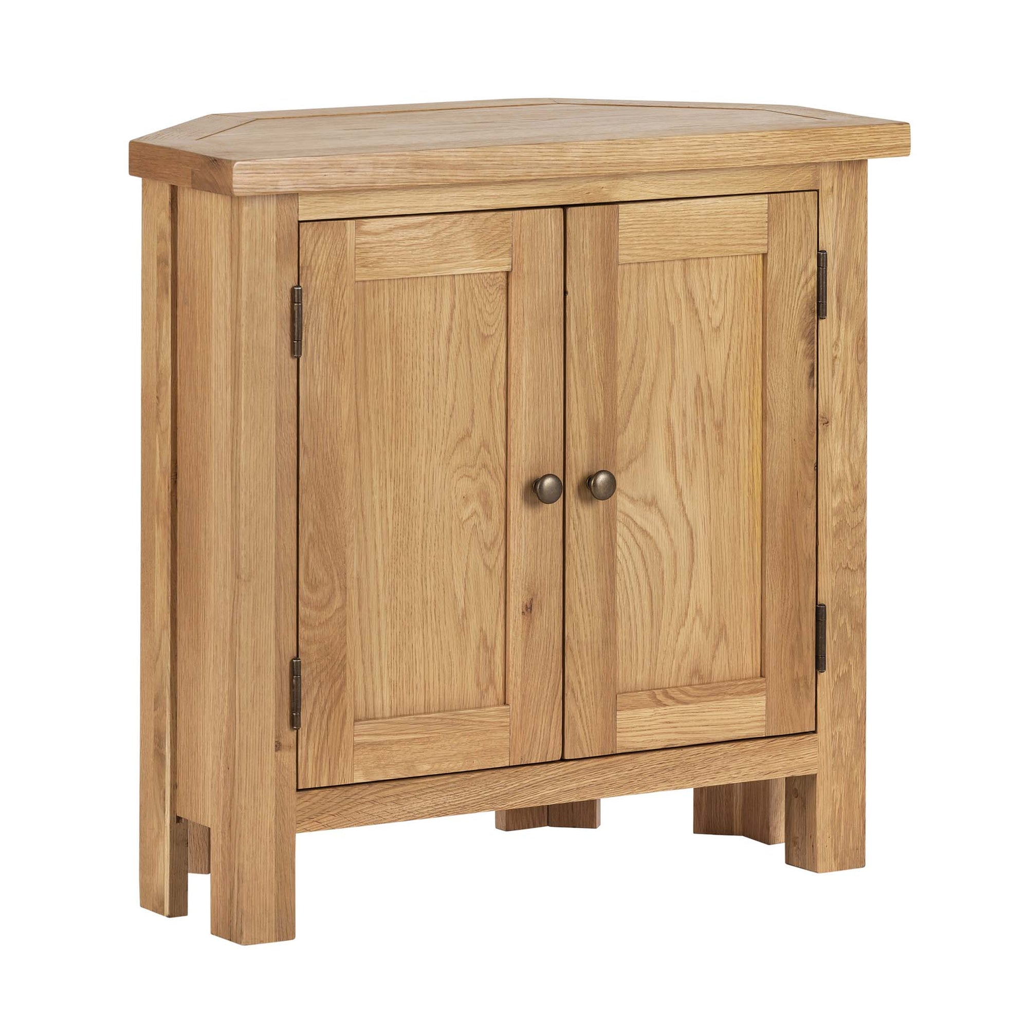 Charlestown Oak Corner Cupboard by Roseland Furniture