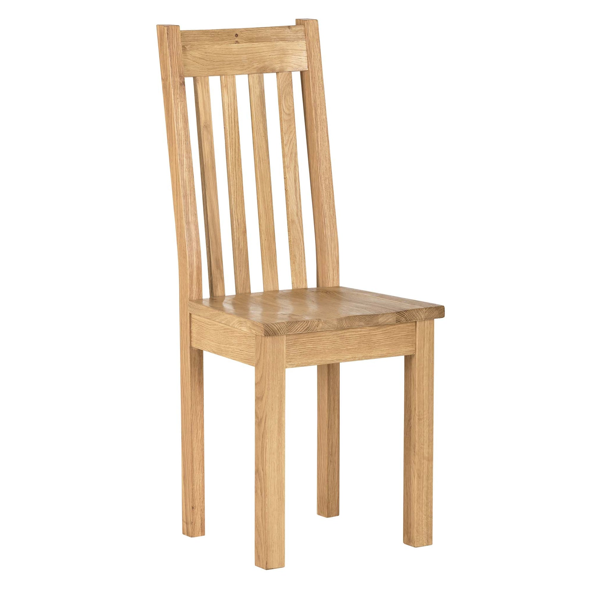 Charlestown Oak Dining Chair with Timber Seat by Roseland Furniture