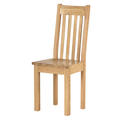 Charlestown Oak Dining Chair with Timber Seat