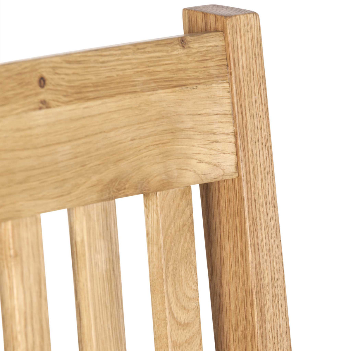 Seat back - Charlestown Oak Dining Chair with Timber Seat