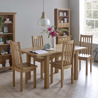 Dining room with Charlestown Oak Dining Chair with Timber Seat