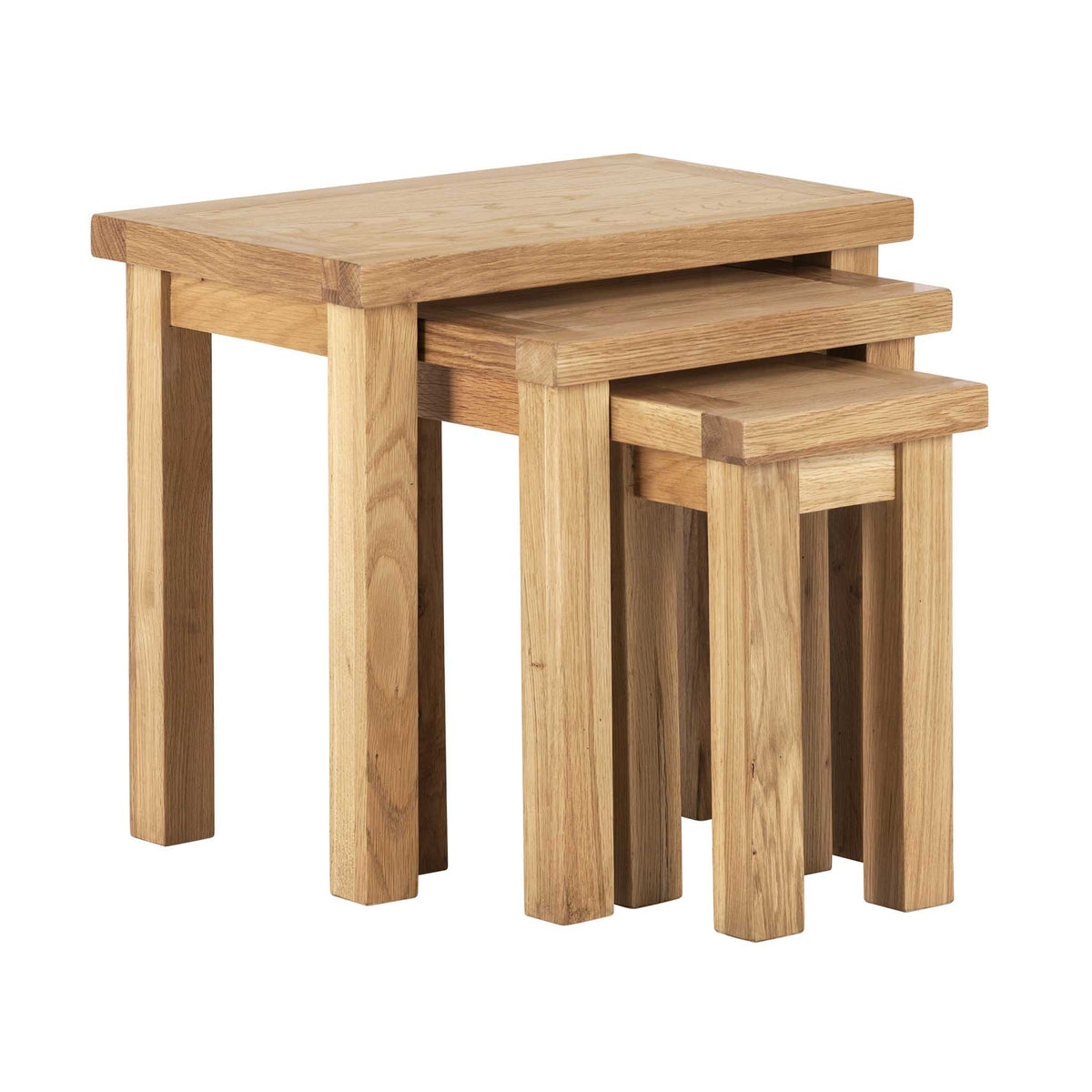 Charlestown Oak Nest of 3 Tables by Roseland Furniture